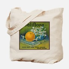 Califlora Orange - Vintage Label Tote Bag