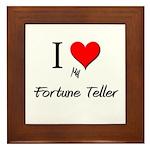 I Love My Fortune Teller Framed Tile