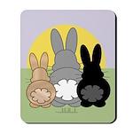 Rabbittude Posse Mousepad