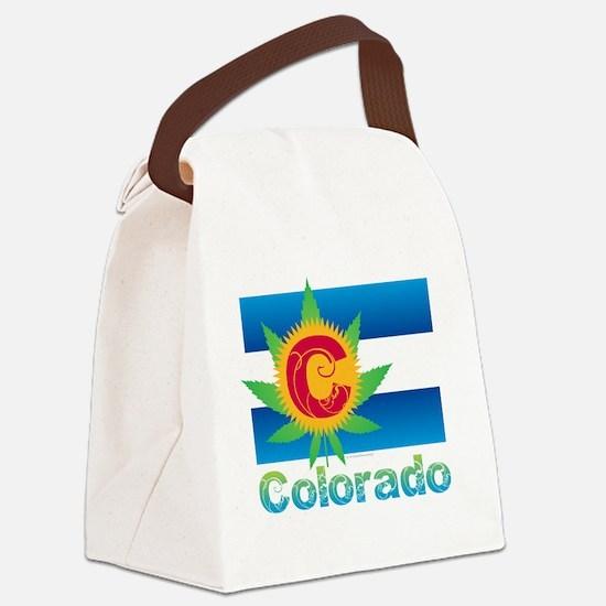 Colorado Marijuana Flag Canvas Lunch Bag