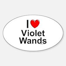 Violet Wands Sticker (Oval)