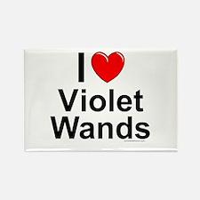 Violet Wands Rectangle Magnet