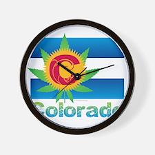 Colorado Marijuana Flag Wall Clock