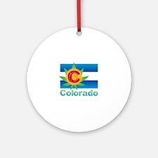 Colorado Marijuana Flag Round Ornament
