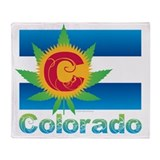 Colorado marijuana Fleece Blankets