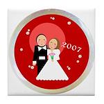 2007 Wedding Gifts Tile Coaster
