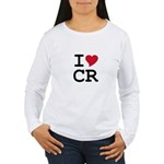 Costa Rica Heart Women's Long Sleeve T-Shirt