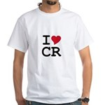 Costa Rica Heart White T-Shirt