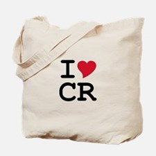 Costa Rica Heart Tote Bag