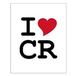 Costa Rica Heart Small Poster