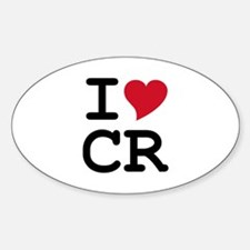 Costa Rica Heart Oval Decal