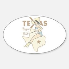 Faded Texas Pinup Bumper Stickers