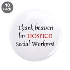 """Thank Heaven Hospice BRT 3.5"""" Buttons (10 pack)"""