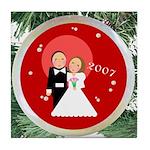 2007 Christmas Wedding Tile Coaster