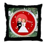2007 Christmas Wedding Throw Pillow