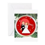 2007 Christmas Wedding Greeting Cards (Pk of 20)