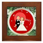 2007 Christmas Wedding Framed Tile
