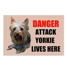 ATTACK YORKIE Postcards (Package of 8)