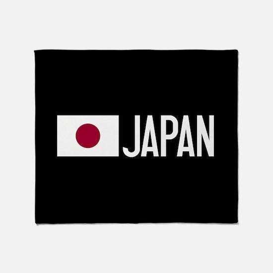 Japan: Japanese Flag & Japan Throw Blanket