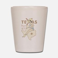 Faded Texas Pinup Shot Glass