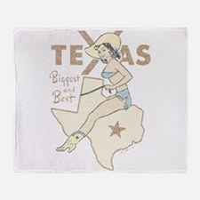 Faded Texas Pinup Throw Blanket