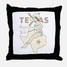 Faded Texas Pinup Throw Pillow