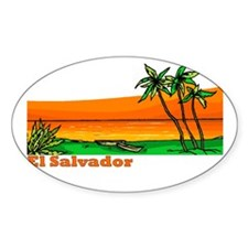 El Salvador Oval Decal