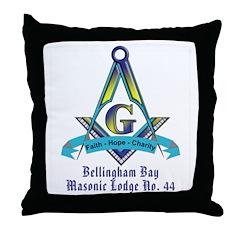 Bellingham Bay Masonic Lodge Throw Pillow
