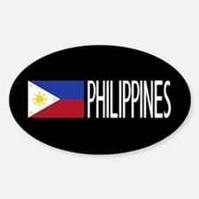 Philippines: Filipino Flag & Philip Sticker (Oval)
