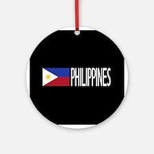 Philippines: Filipino Flag & Philip Round Ornament