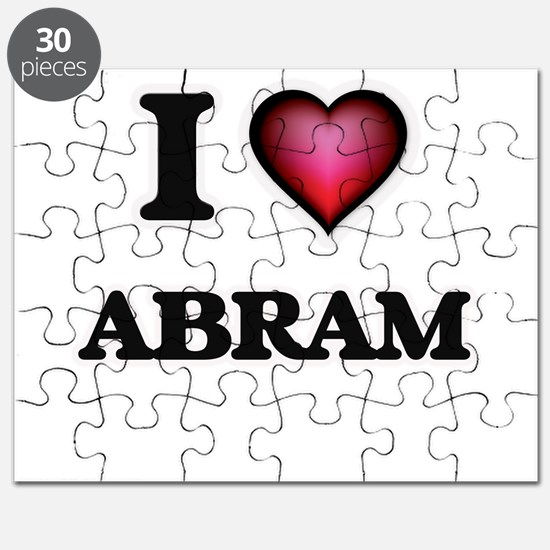I love Abram Puzzle