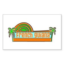 French Guiana Rectangle Decal