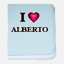 I love Alberto baby blanket