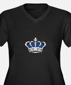 Crown - Blue Plus Size T-Shirt