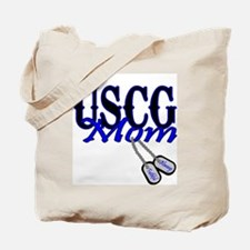 USCG Mom Dog Tag Tote Bag