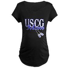 USCG Mom Dog Tag T-Shirt