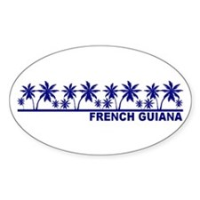 French Guiana Oval Decal