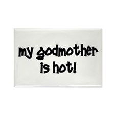 My Godmother Is Hot! black Rectangle Magnet