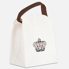 Crown - Pink Canvas Lunch Bag