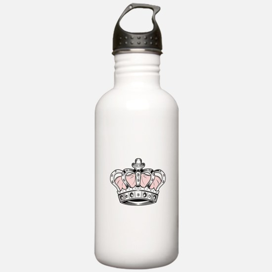 Crown - Pink Water Bottle