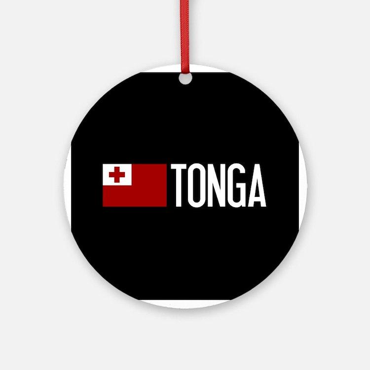 Tonga: Tongan Flag & Tonga Round Ornament