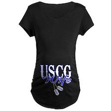 USCG Wife Dog Tag T-Shirt