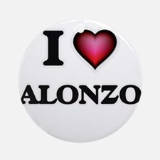 I love Alonzo Round Ornament