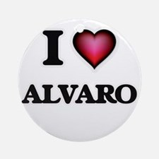 I love Alvaro Round Ornament