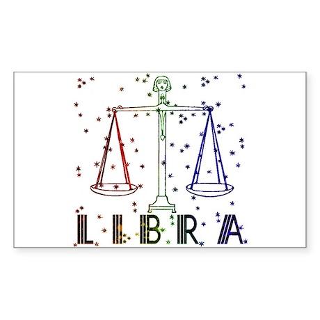LIBRA SKIES Rectangle Sticker