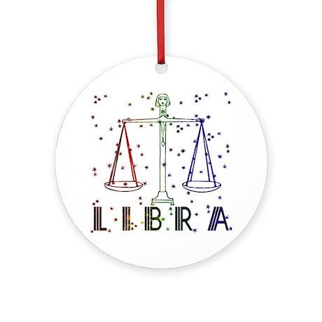 LIBRA SKIES Ornament (Round)