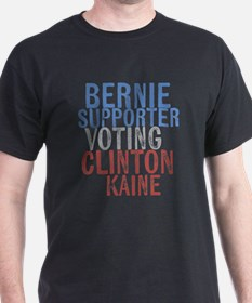 Bernie Supporter Voting Clinton T-Shirt