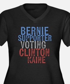 Bernie Supporter Voting Clinton Plus Size T-Shirt