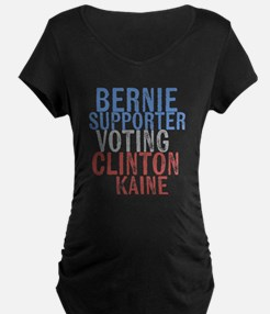 Bernie Supporter Voting Clinton Maternity T-Shirt
