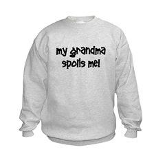 My Grandma Spoils Me! black Sweatshirt